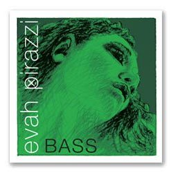 Pirastro Evah Pirazzi 3/4 String Bass E String - Medium Gauge - Chromesteel/Synthetic Fiber